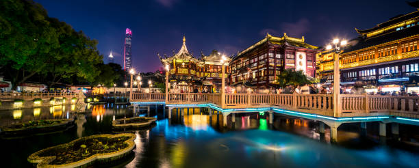 Shanghai ancient architecture Formal Garden, Ornamental Garden, Tourism, Ancient, Architecture the bund stock pictures, royalty-free photos & images