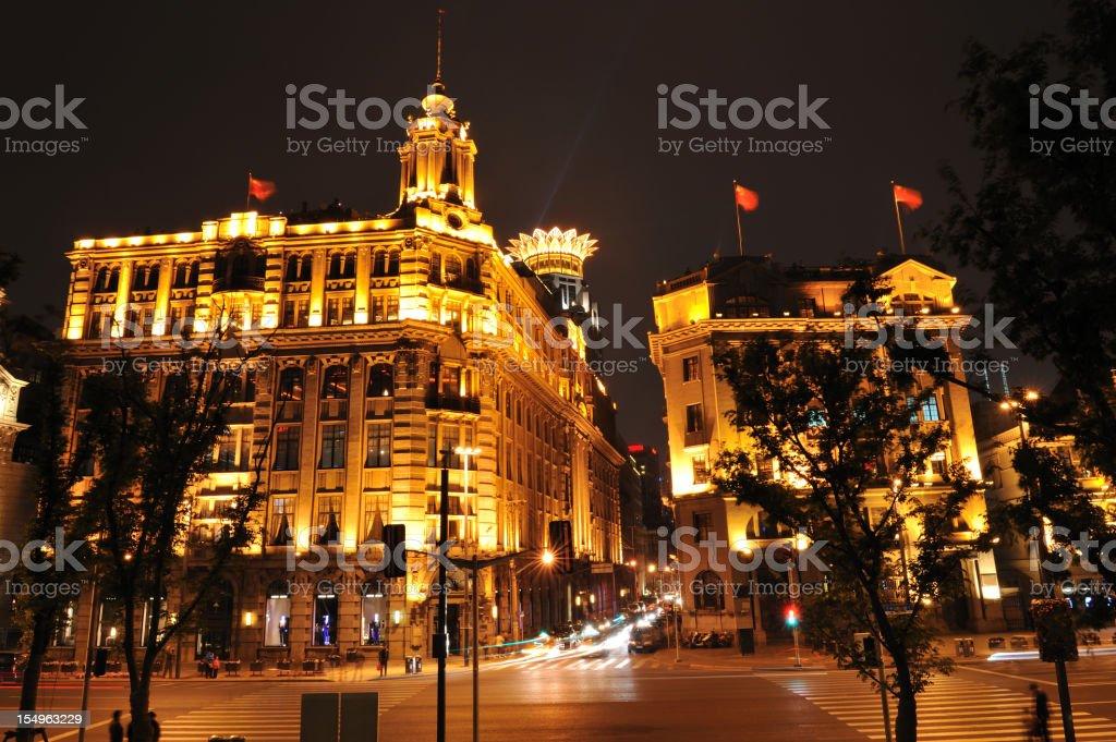 Shanghai at Night royalty-free stock photo