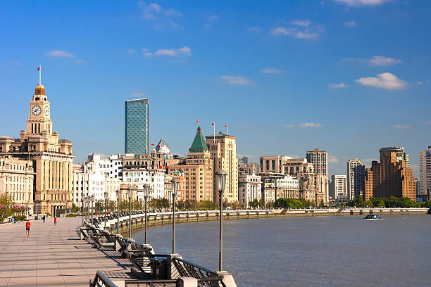 Shanghai Bund historical buildings,China Shanghai Bund historical buildings,China the bund stock pictures, royalty-free photos & images