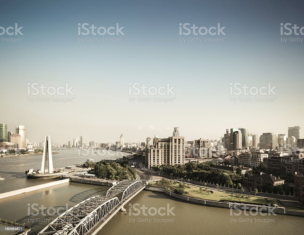shanghai bund in the afternoon royalty-free stock photo