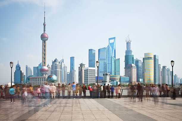 Shanghai Bunt and Padong areas Shanghai Bund and Padong areas. the bund stock pictures, royalty-free photos & images
