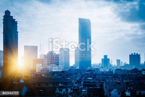 1157587322 istock photo Shanghai business district in daytime 642444722