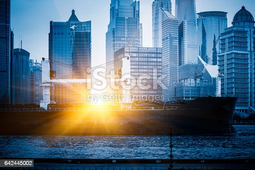 1157587322 istock photo Shanghai business district in daytime 642445002