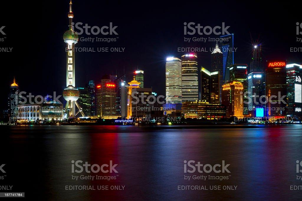 Shanghai by night royalty-free stock photo