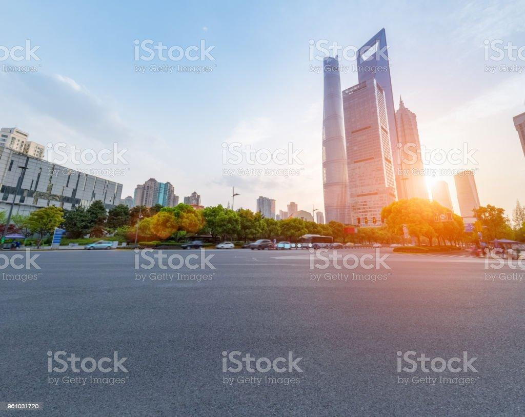 shanghai century avenue street view - Royalty-free Architecture Stock Photo