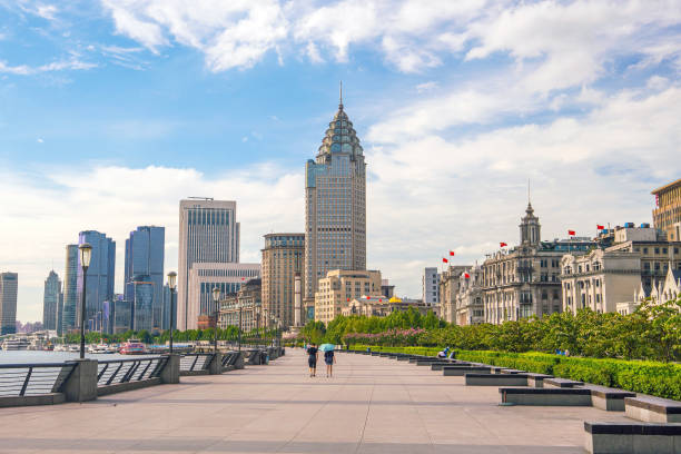 Shanghai, China cityscape at the Bund. shot of Shanghai, China cityscape at the Bund. the bund stock pictures, royalty-free photos & images