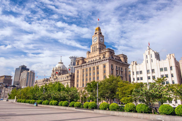 Shanghai, China cityscape at the Bund Shot of Shanghai, China cityscape at the Bund. the bund stock pictures, royalty-free photos & images