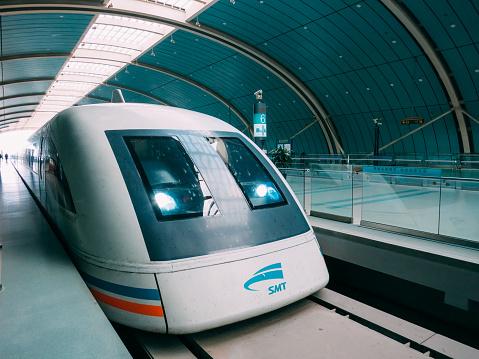 Shanghai China Maglev train high speed