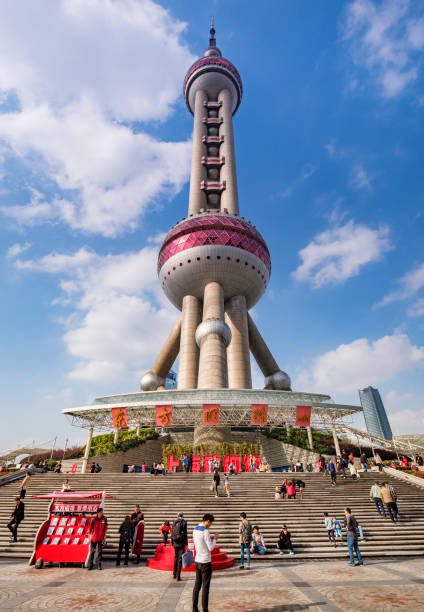 Shanghai, China, Oriental Pearl Tower, Entrance stock photo