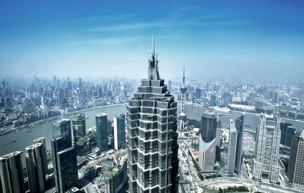 Shanghai, China  jin mao tower stock pictures, royalty-free photos & images
