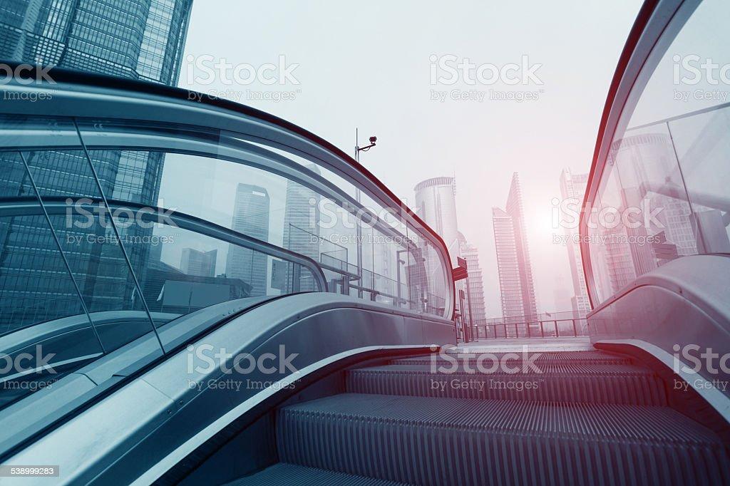 Shanghai  city building stock photo