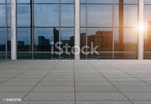 istock Shanghai City Marble Square and Modern Architecture 1134829700