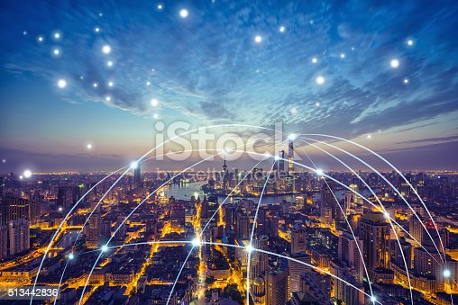 istock Shanghai city network technology 513442836