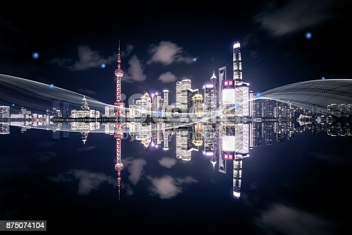 istock Shanghai city network technology 875074104