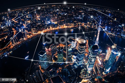 istock Shanghai city network technology 910311348