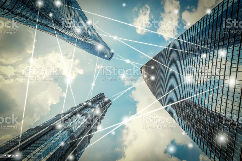 Shanghai city network technology royalty-free stock photo