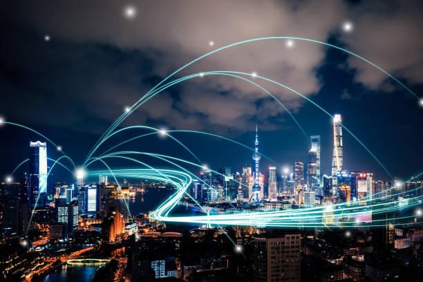 shanghai stad-nätverksteknik - industrial connectivity bildbanksfoton och bilder
