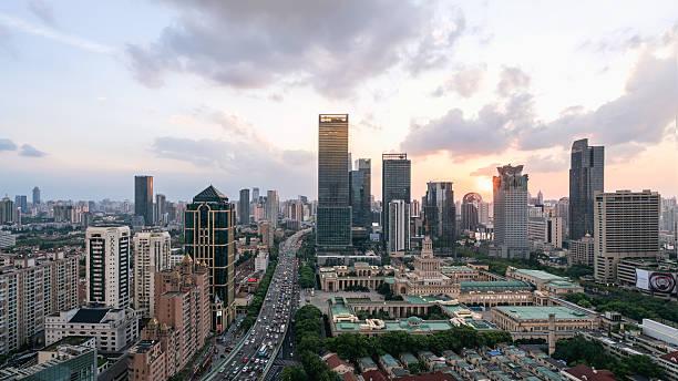 Shanghai Stadt bei Nacht – Foto