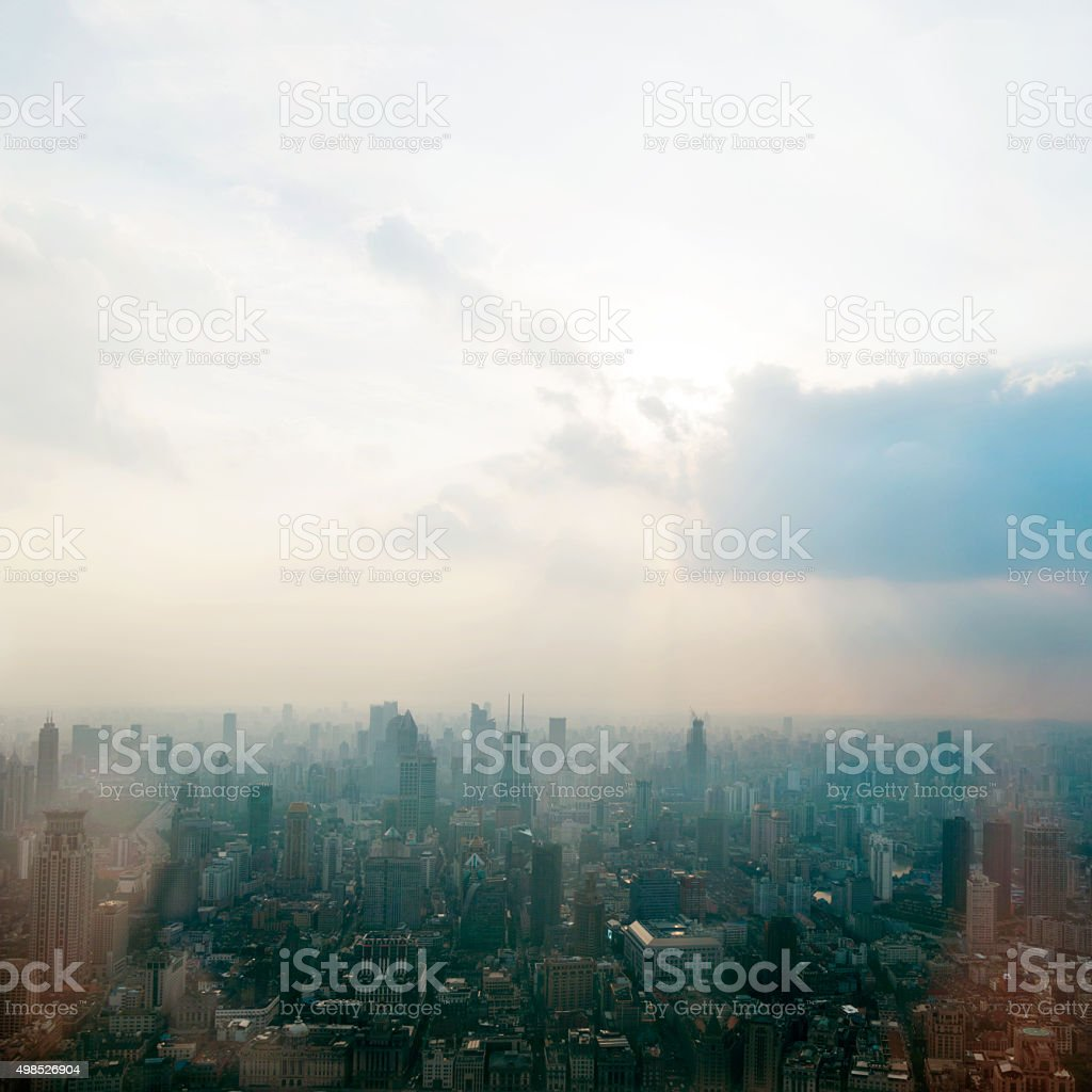 Shanghai city stock photo