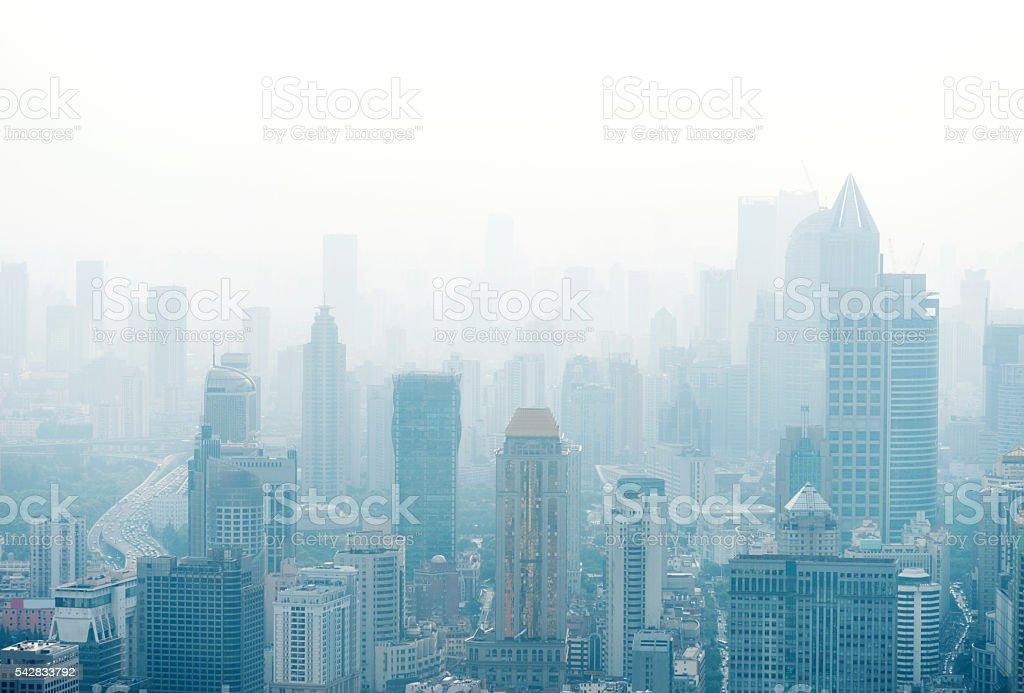 La ciudad de Shanghai - foto de stock