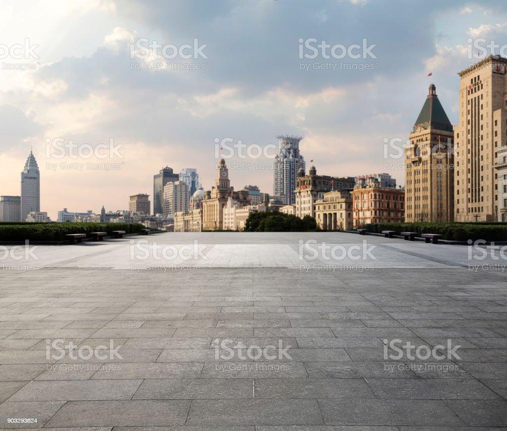 Shanghai city scenery and road. stock photo