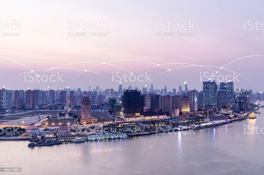 Shanghai City scenery stock photo