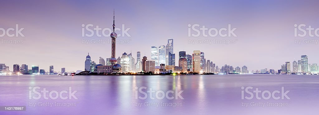 Shanghai City Skyline in China stock photo