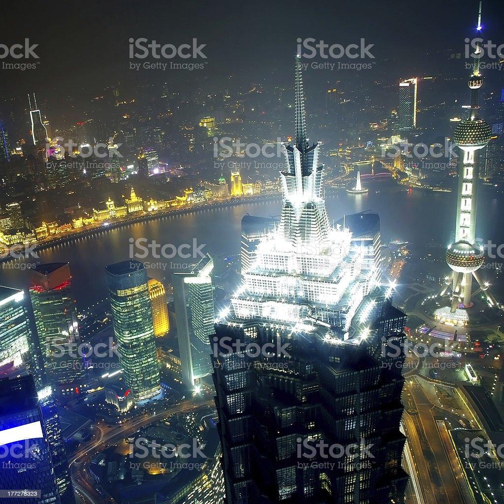 Shanghai city skyline royalty-free stock photo