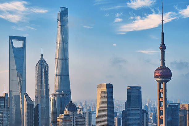Shanghai city skyline Shanghai city skyline oriental pearl tower shanghai stock pictures, royalty-free photos & images