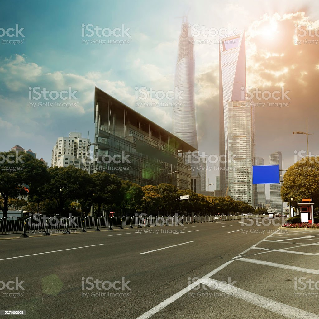 Shanghai city street view stock photo