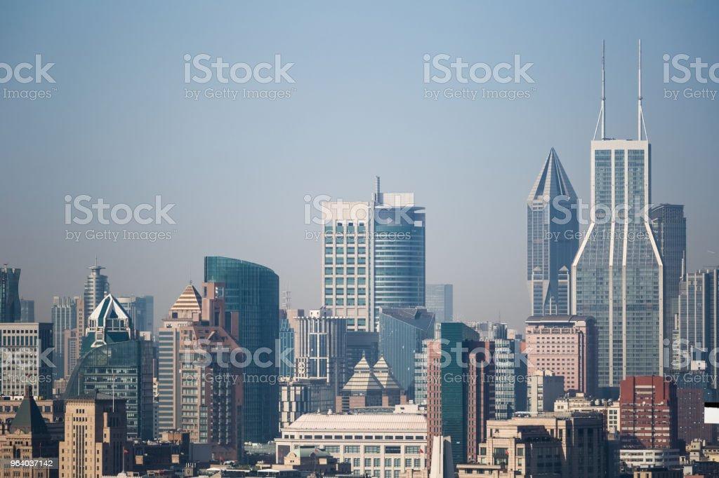 shanghai cityscape closeup - Royalty-free Architecture Stock Photo