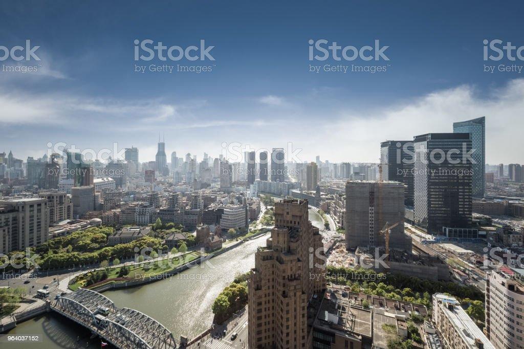 shanghai cityscape, high angle view - Royalty-free Angle Stock Photo