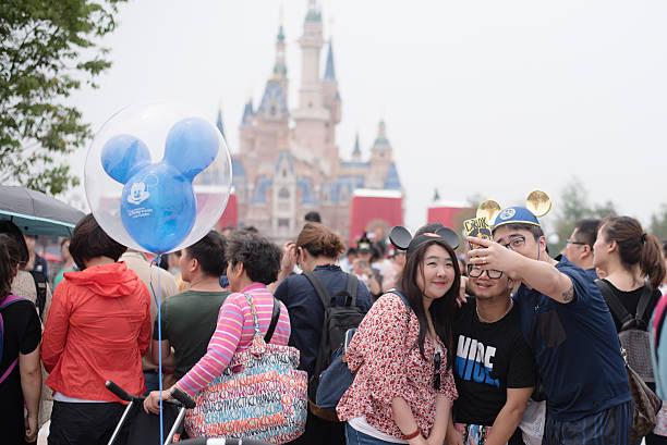 Shanghai Disneyland Selfie stock photo
