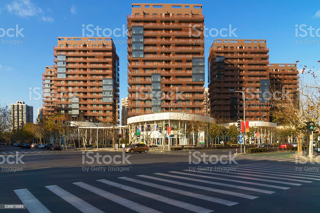 Shanghai downtown stock photo