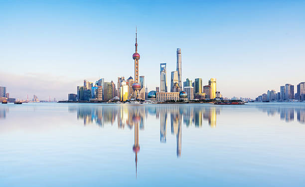 Shanghai dusk China Shanghai city scenery the bund stock pictures, royalty-free photos & images