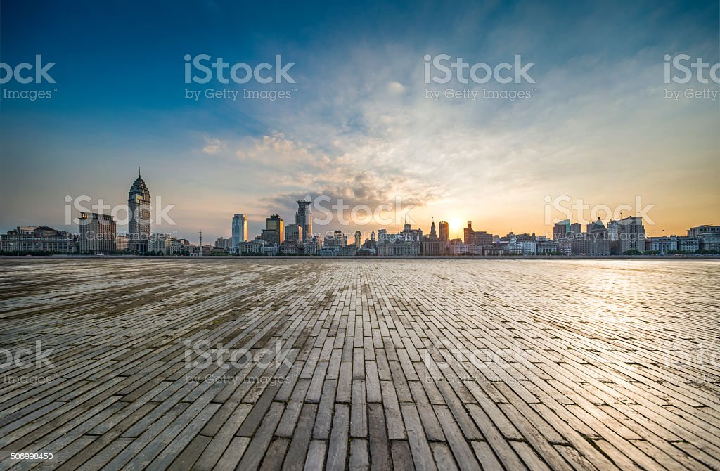 Shanghai financial center stock photo