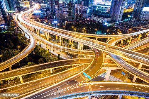 599471112istockphoto Shanghai Highway at Night 596065892