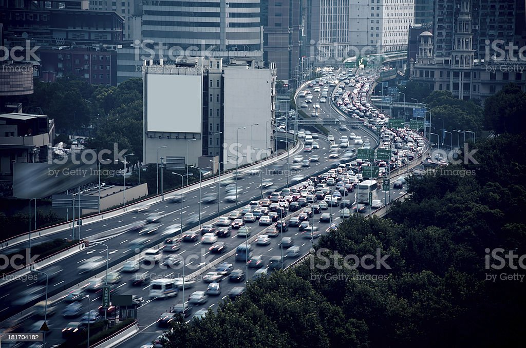 Shanghai, highway driving cars royalty-free stock photo