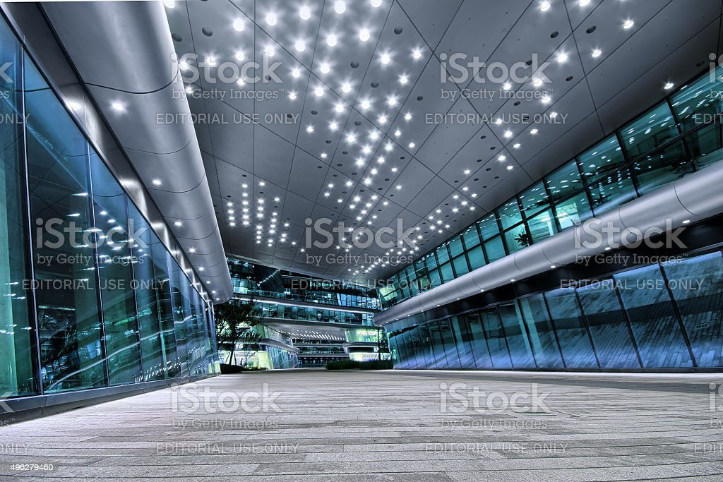 Shanghai Hongqiao Sky Soho building stock photo