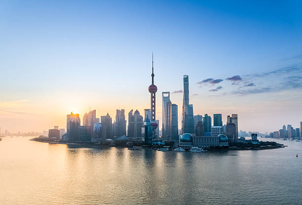 shanghai bei Sonnenaufgang – Foto