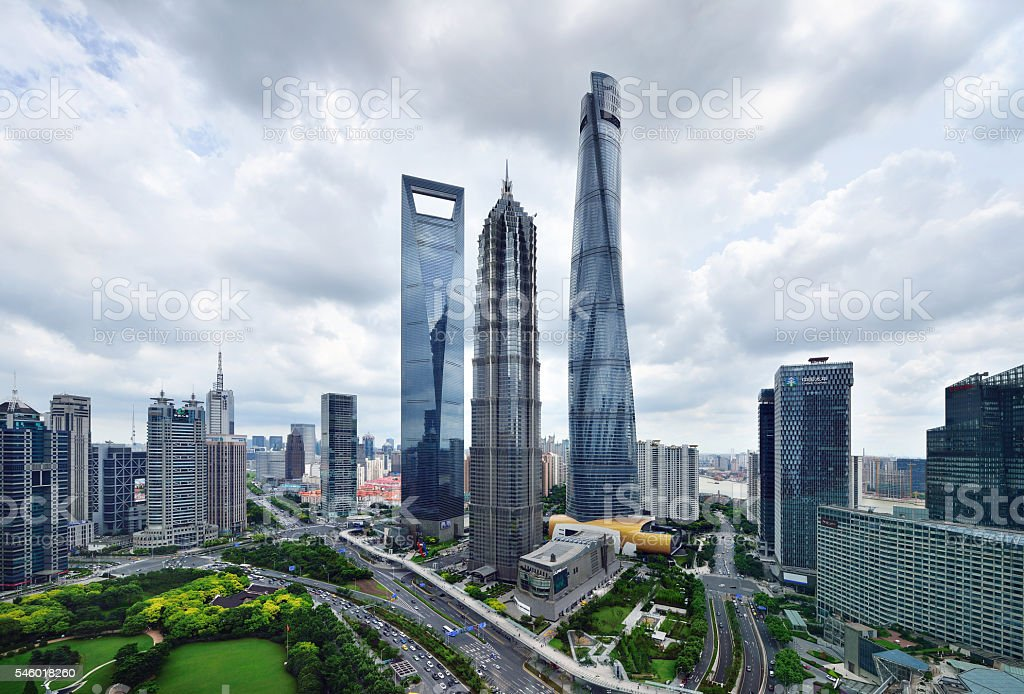Shanghai Landmark Skyscraper stock photo