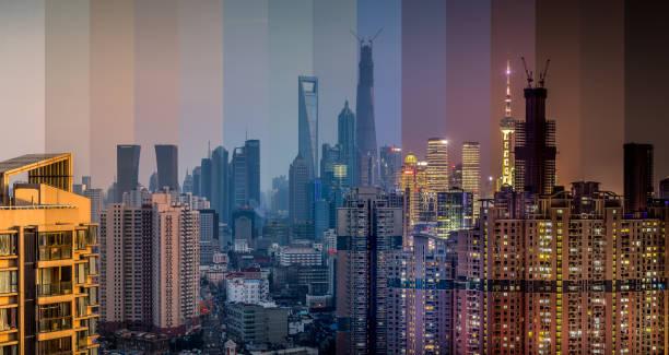 Shanghai Lapse of Time stock photo