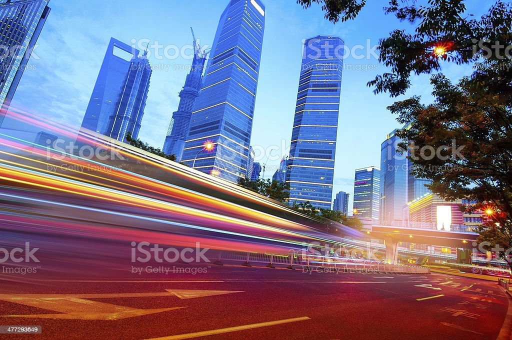 Shanghai Lujiazui Finance stock photo