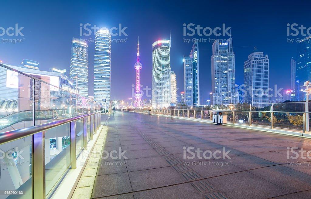Shanghai Lujiazui night scene stock photo