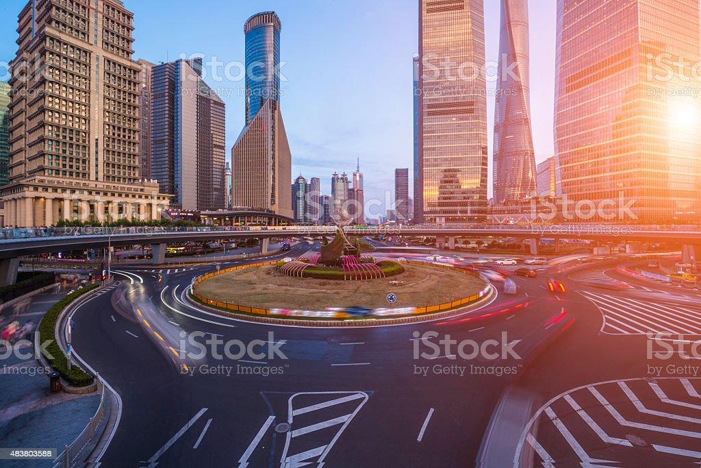 Shanghai Lujiazui scene stock photo