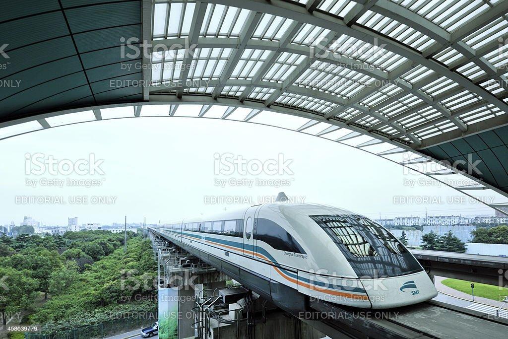 Shanghai Maglev Train stock photo
