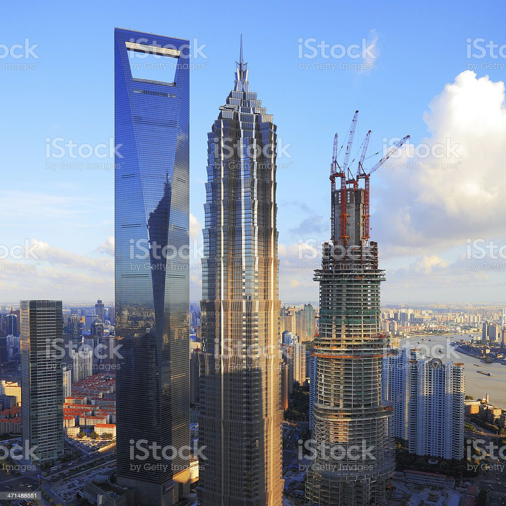 Shanghai Modern Skyscraper, China royalty-free stock photo