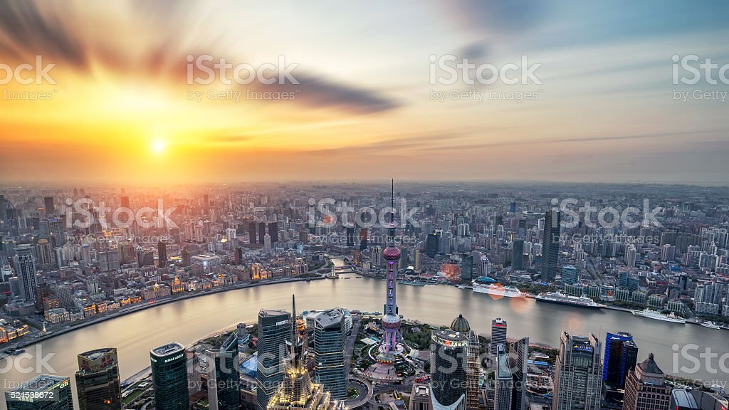 Shanghai morning stock photo
