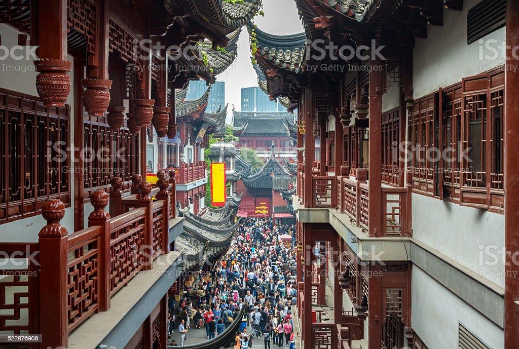 Shanghai Old Town, Yuyuan, China stock photo