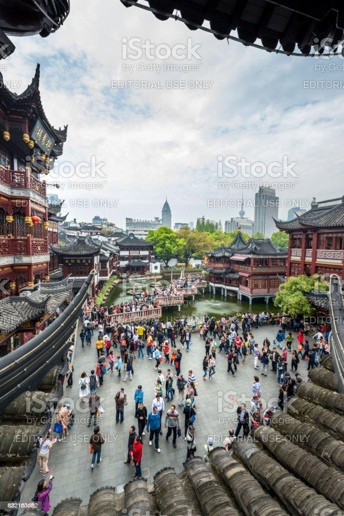 Shanghai Old Town, Yuyuan, China This image is gps tagged stock photo